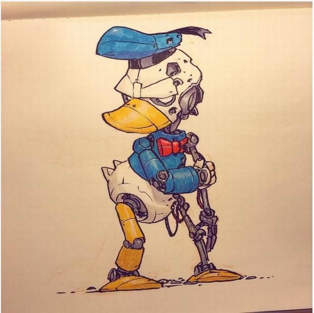 """童话风秒变未来科幻风!动画人物""""机械化""""图片"""