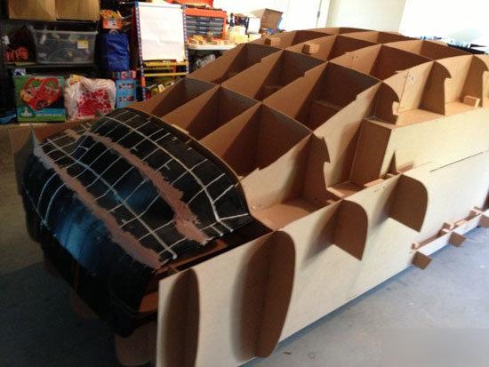 纸壳手工制作沙发