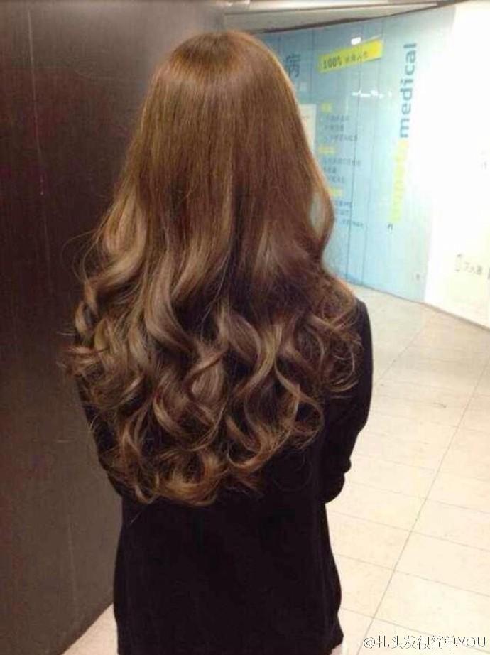 长发美女大卷发时尚造型长发波浪卷图片大全图片
