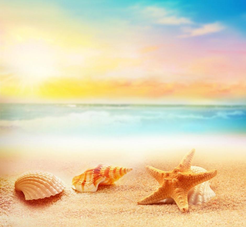 夏季最美沙滩风景高清图片