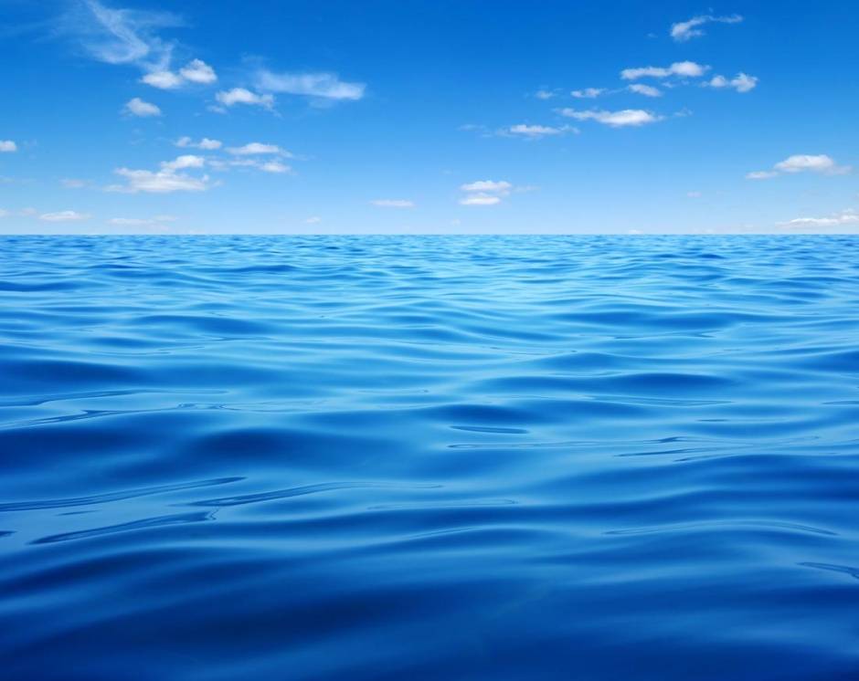 美丽的蓝天白云大海图片