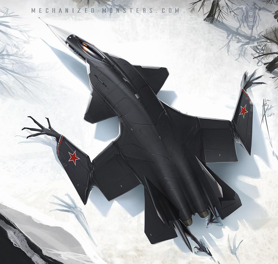 组图:科幻大气 苏系美系战机变身机械怪兽