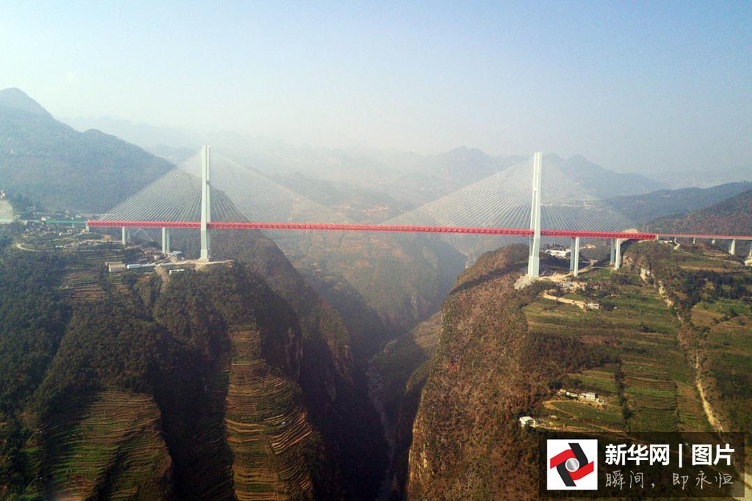 12月29日,横跨贵州省六盘水市都格镇和云南省宣威市普立乡的北盘江