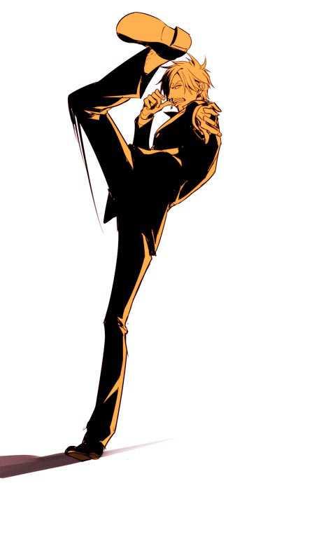 海贼王众男神超酷单色美图,山治索隆帅气,香克斯霸气十足