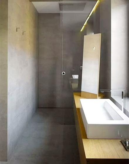 原始水泥质感 10个工业风格卫生间装修图