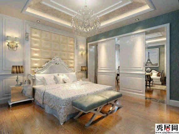 大方明亮欧式风格卧室装修效果图