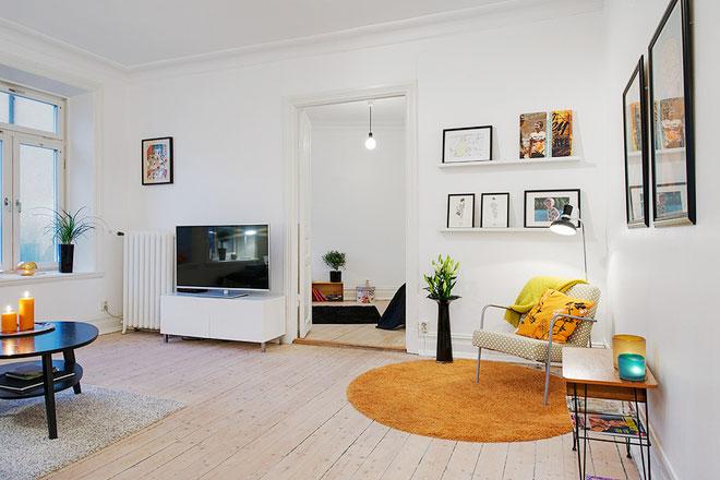 简约北欧风格文艺客厅设计效果图