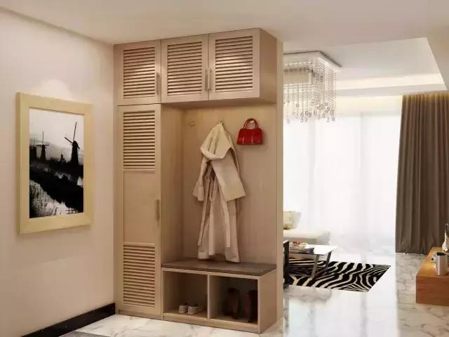 客厅玄关柜兼隔断装修设计图片大全