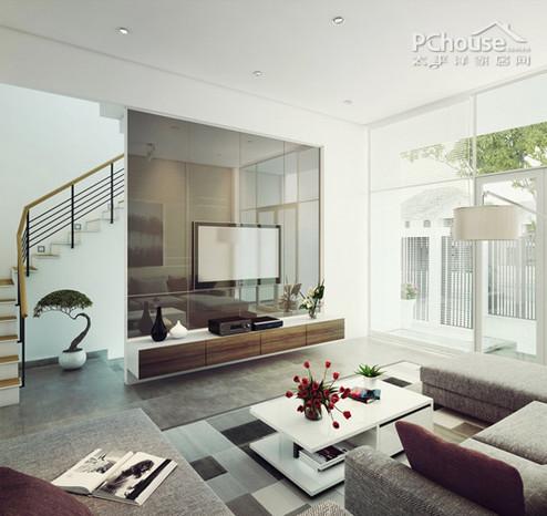 个性现代loft风格客厅装修效果图