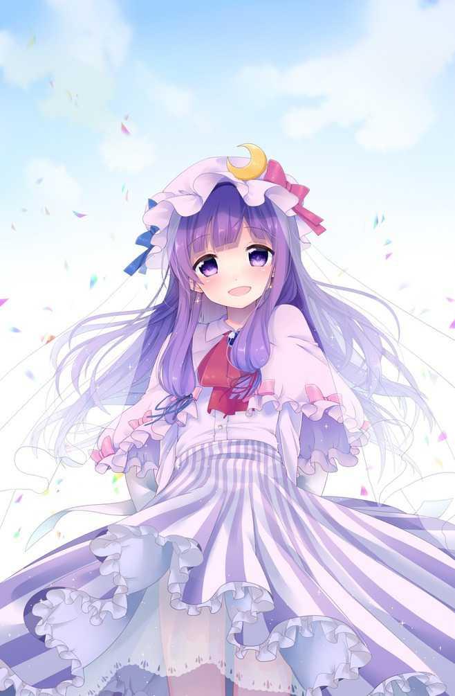 动漫里戴白头纱的美少女,头纱飘舞梦幻且唯美