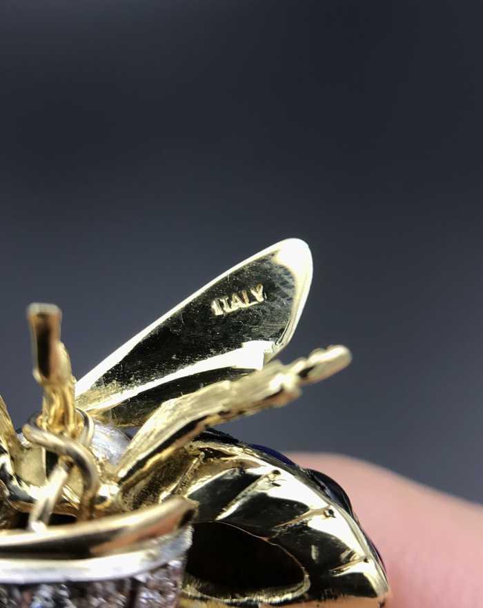 意大利写实风格昆虫珠宝作品之蜜蜂项链