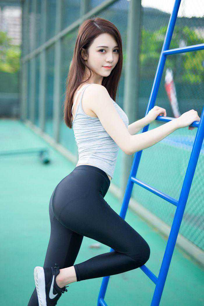 超美超可爱的网球美女图片, 嘟嘟小嘴, 身材完美