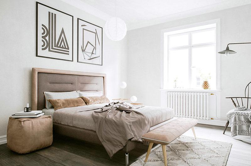 北欧风格单身公寓装修 轻盈灵动的灰白空间