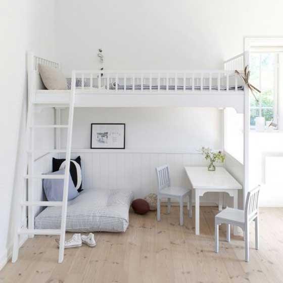 小戶型的春天 10款臥室高架床裝修圖片
