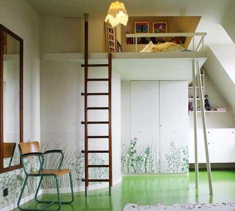 小户型的春天 10款卧室高架床装修图片