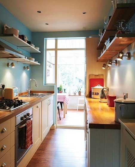 没有吊柜的厨房 10个收纳型厨房装修效果图