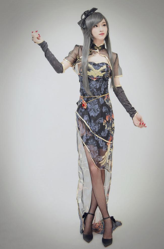 洛天依金丝雀可爱萝莉丝袜美腿cosplay写真