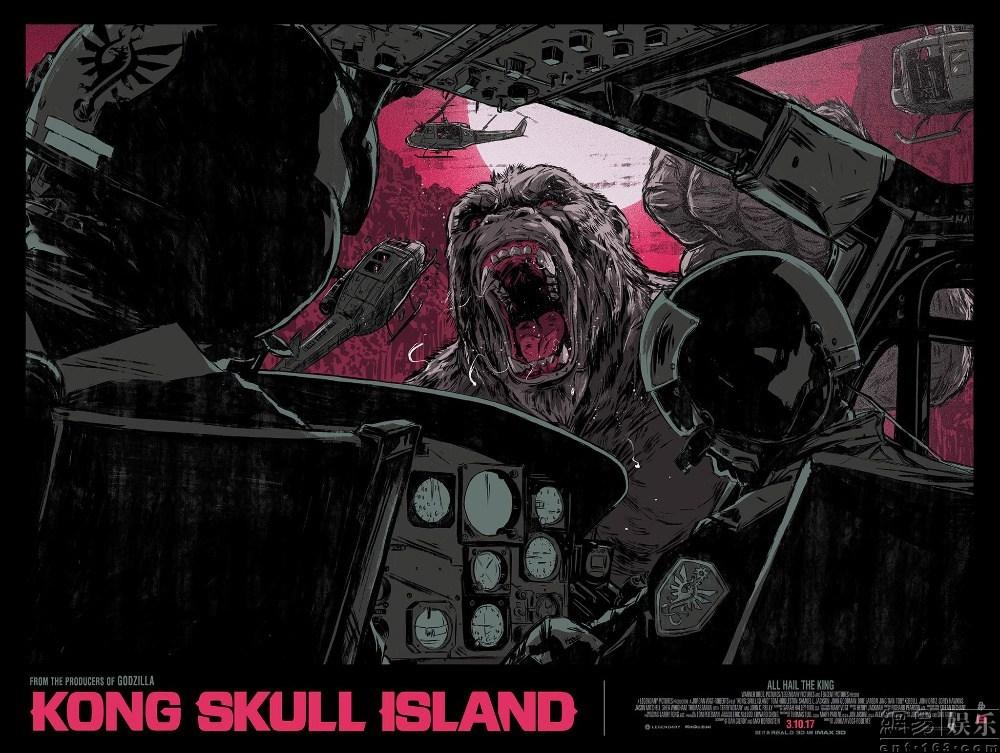 """《金刚:骷髅岛》""""饭制""""海报展亮相纽约"""