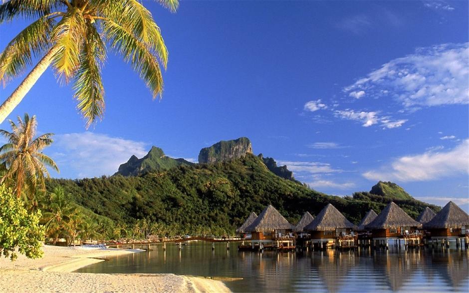 海滩夜景图片大全 热带岛屿海滩自然风光高清风景壁纸