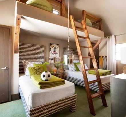 同房不同床 10款卧室高低床设计图