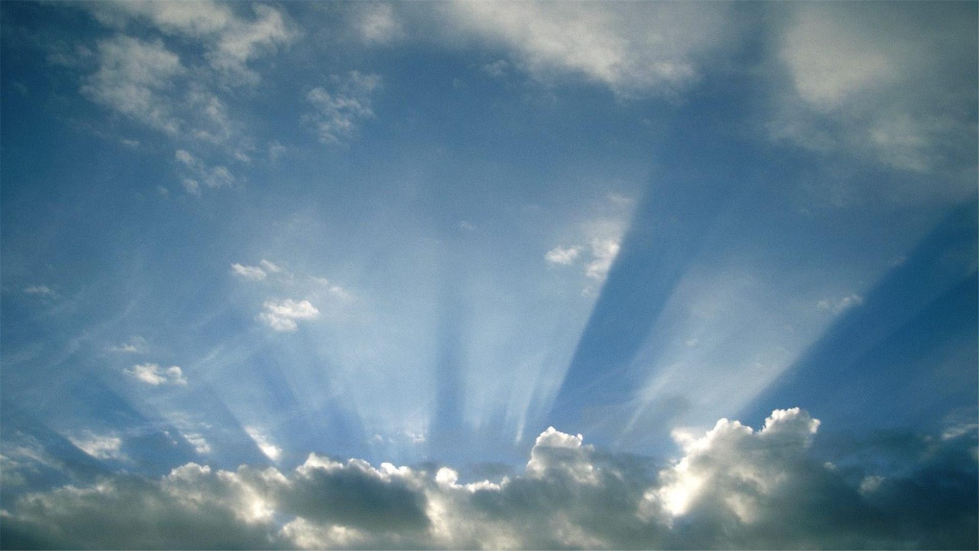 天空壁纸 粉色的云朵天空风景唯美壁纸