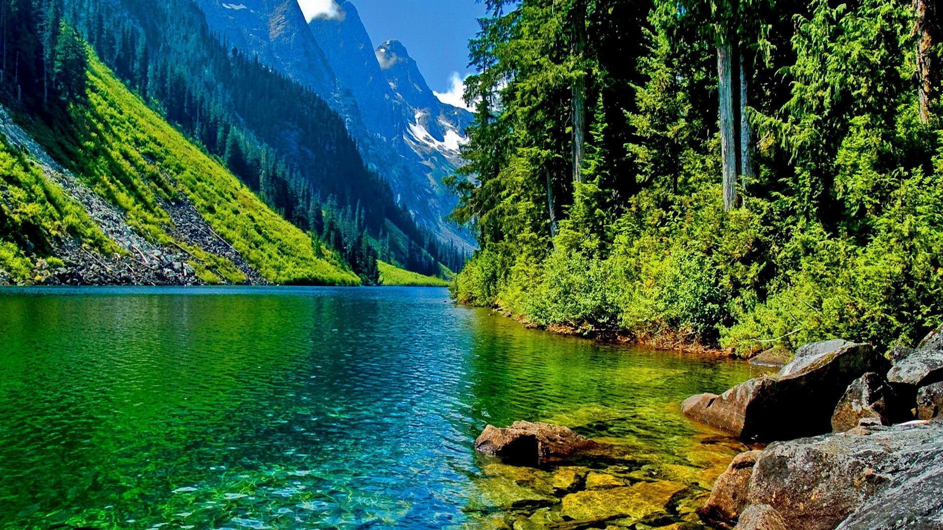大自然风景壁纸 深山峡谷大自然美景壁纸