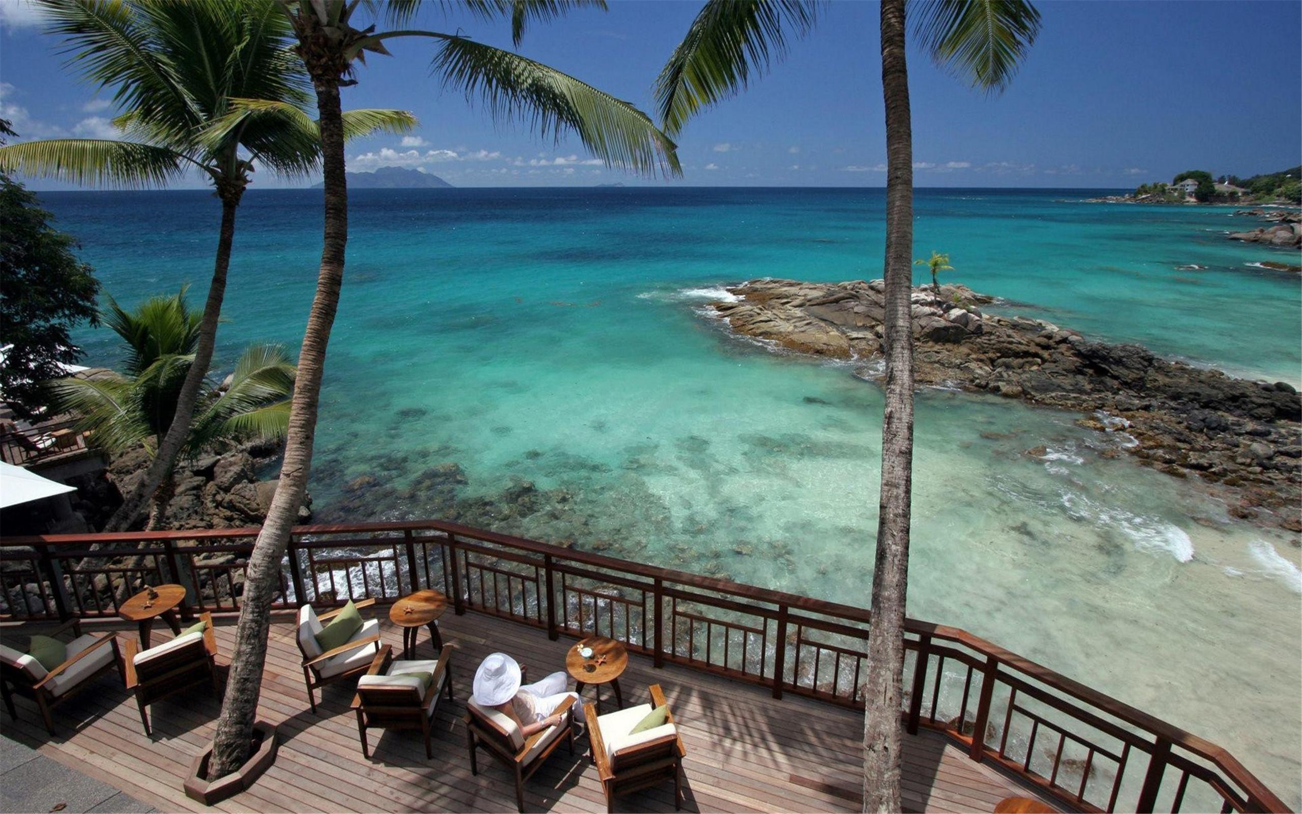 海边风景 精选蓝色海边风景图片高清桌面壁纸
