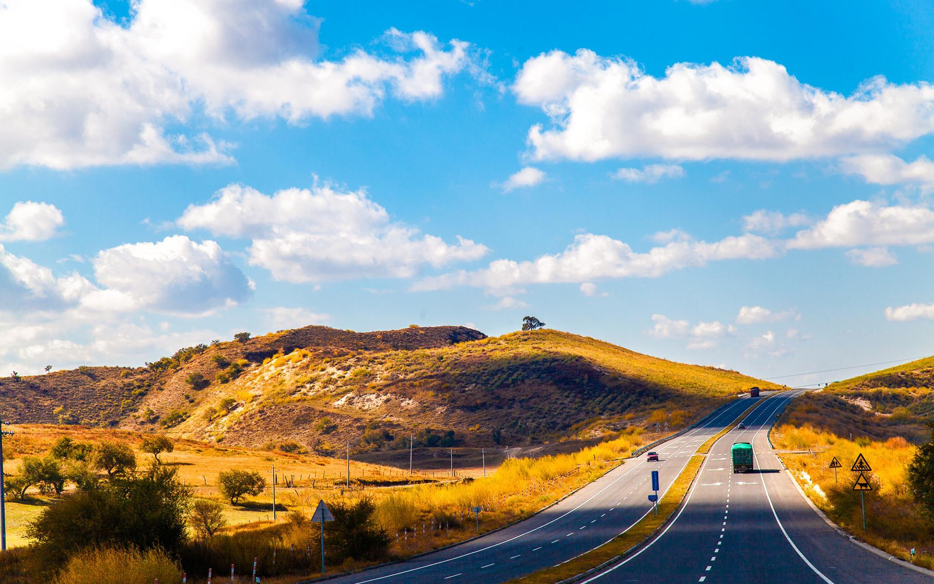 公路桌面壁纸 精选清新公路风景桌面壁纸大全