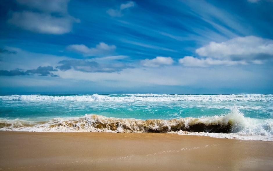 美丽海边风景图片 海边日落晚霞天空自然风景图片