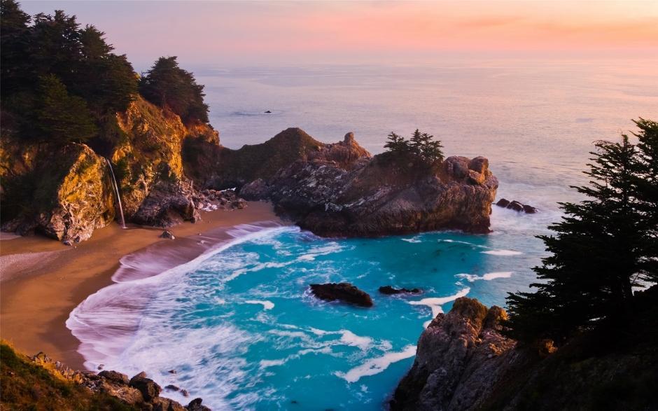 精选好看的大海高清蓝色风景护眼电脑桌面壁纸下载