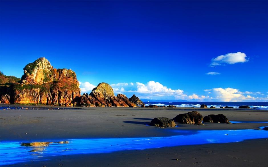 精选好看的大海高清蓝色风景护眼电脑桌面壁纸下载(3)