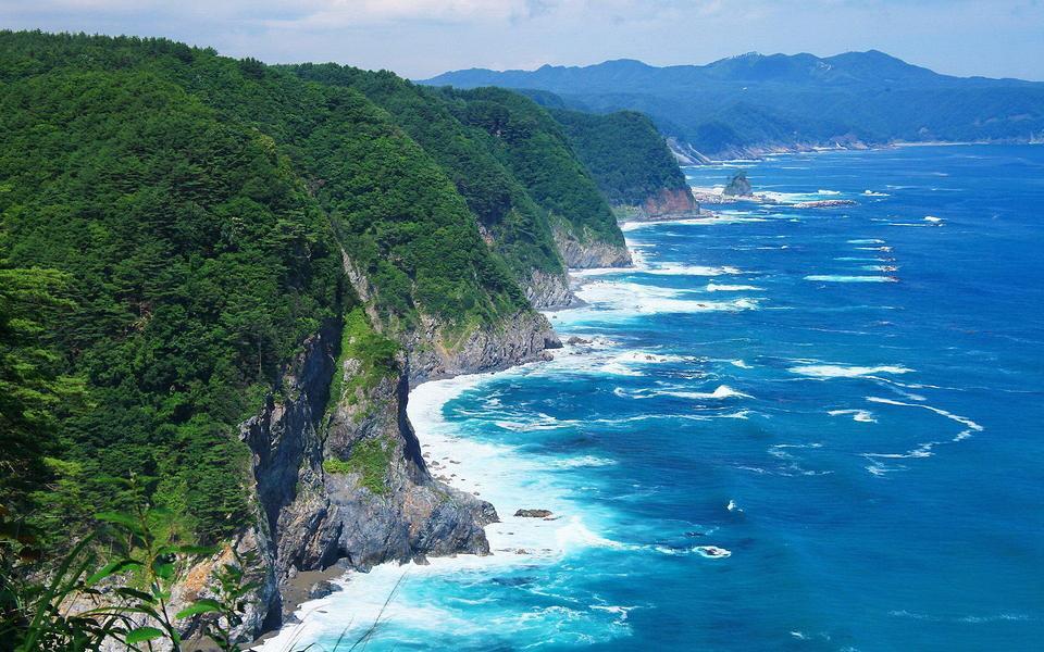清新蓝色海岸高清风景桌面壁纸_图片新闻_东方头条