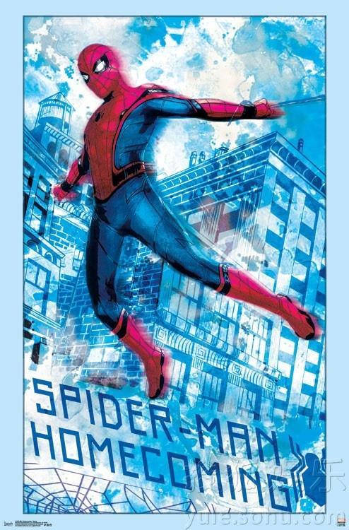 《蜘蛛侠:英雄归来》手绘海报