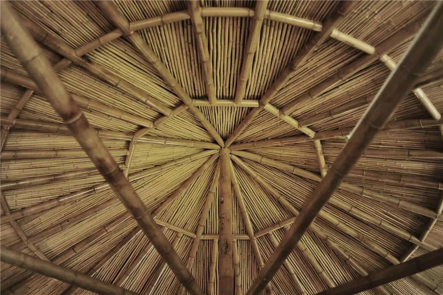 废旧材料手工制作竹子