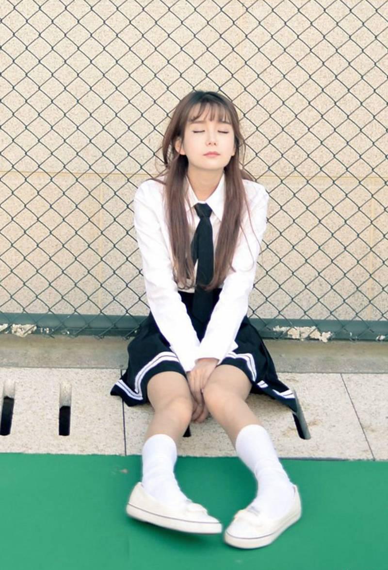 台湾纯情美女学生妹性感jk制服诱惑写真图片图片