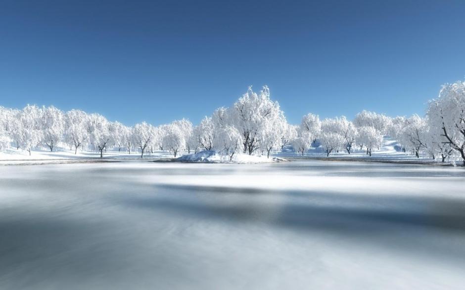 欧洲冬季雪景唯美浪漫风景图电脑壁纸