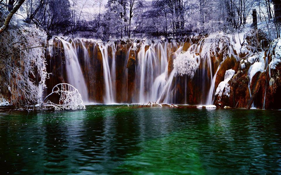 壁纸 风景 旅游 瀑布 山水 摄影 桌面 960_600