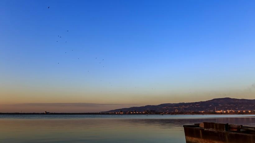 山西晋阳湖风景图片