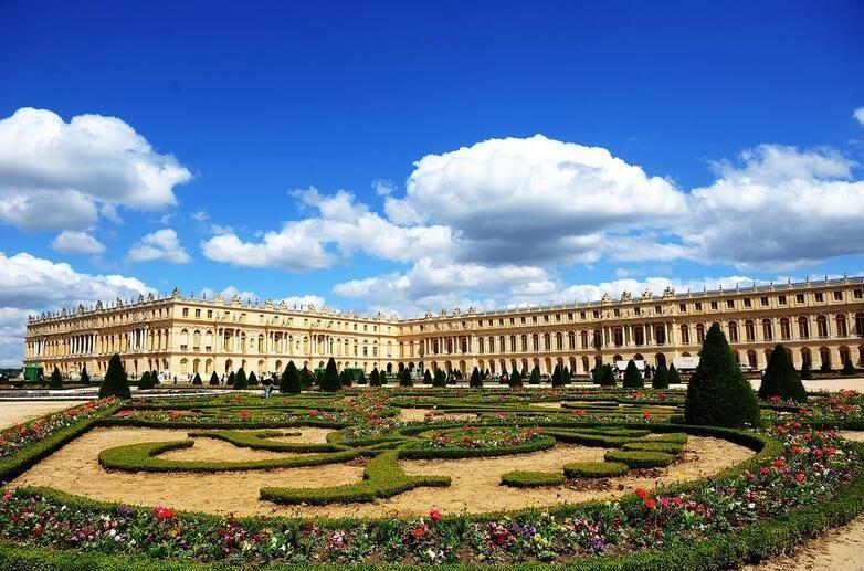 法国巴黎凡尔赛宫唯美建筑风景图片