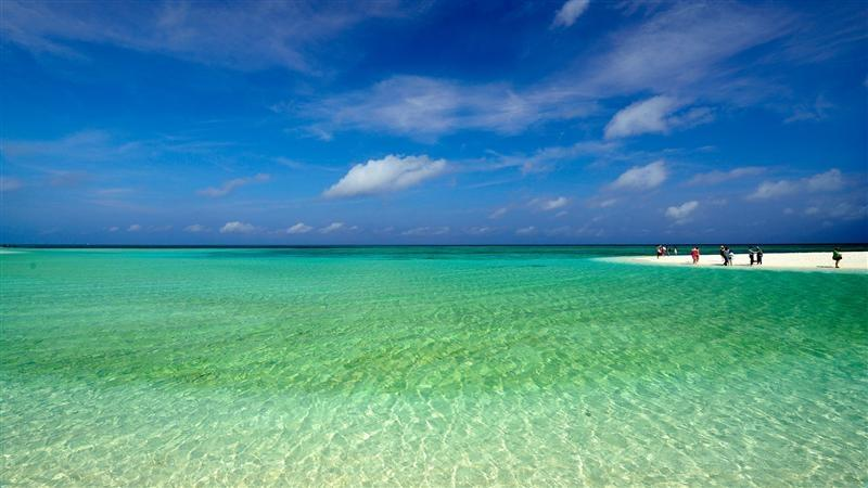 富饶美丽的南海西沙群岛风景图片