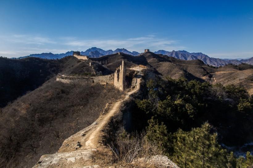 北京蟠龙山长城风景图片