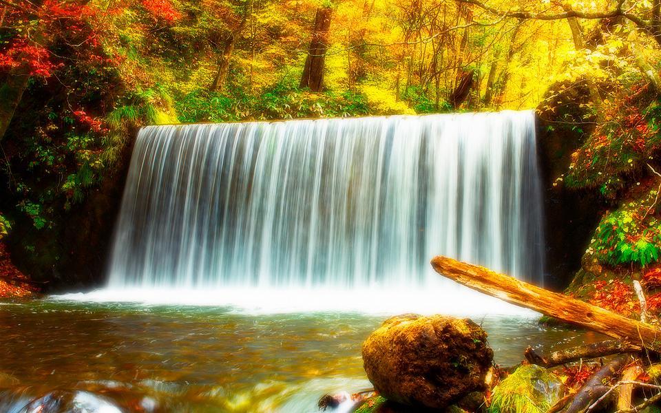 绝美瀑布高清风景壁纸(www.5443.com 美女图片第6张)