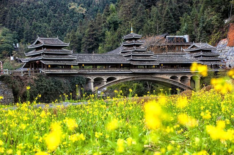 广西三江程阳风雨桥风景图片