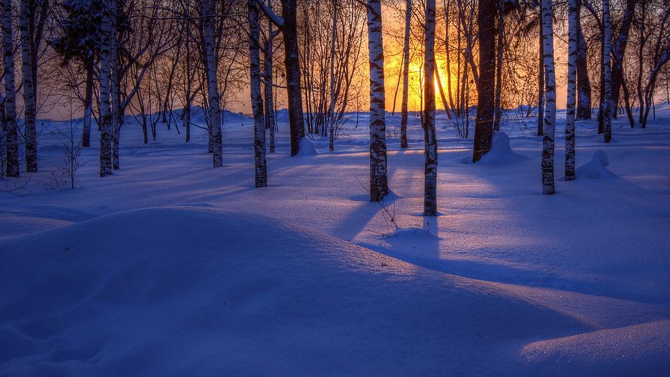 唯美雪景自然风景壁纸