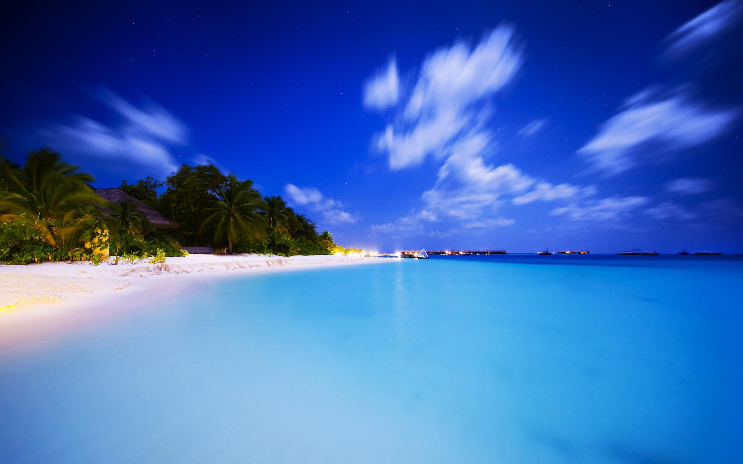 马尔代夫高清海岛风景桌面电脑壁纸图片