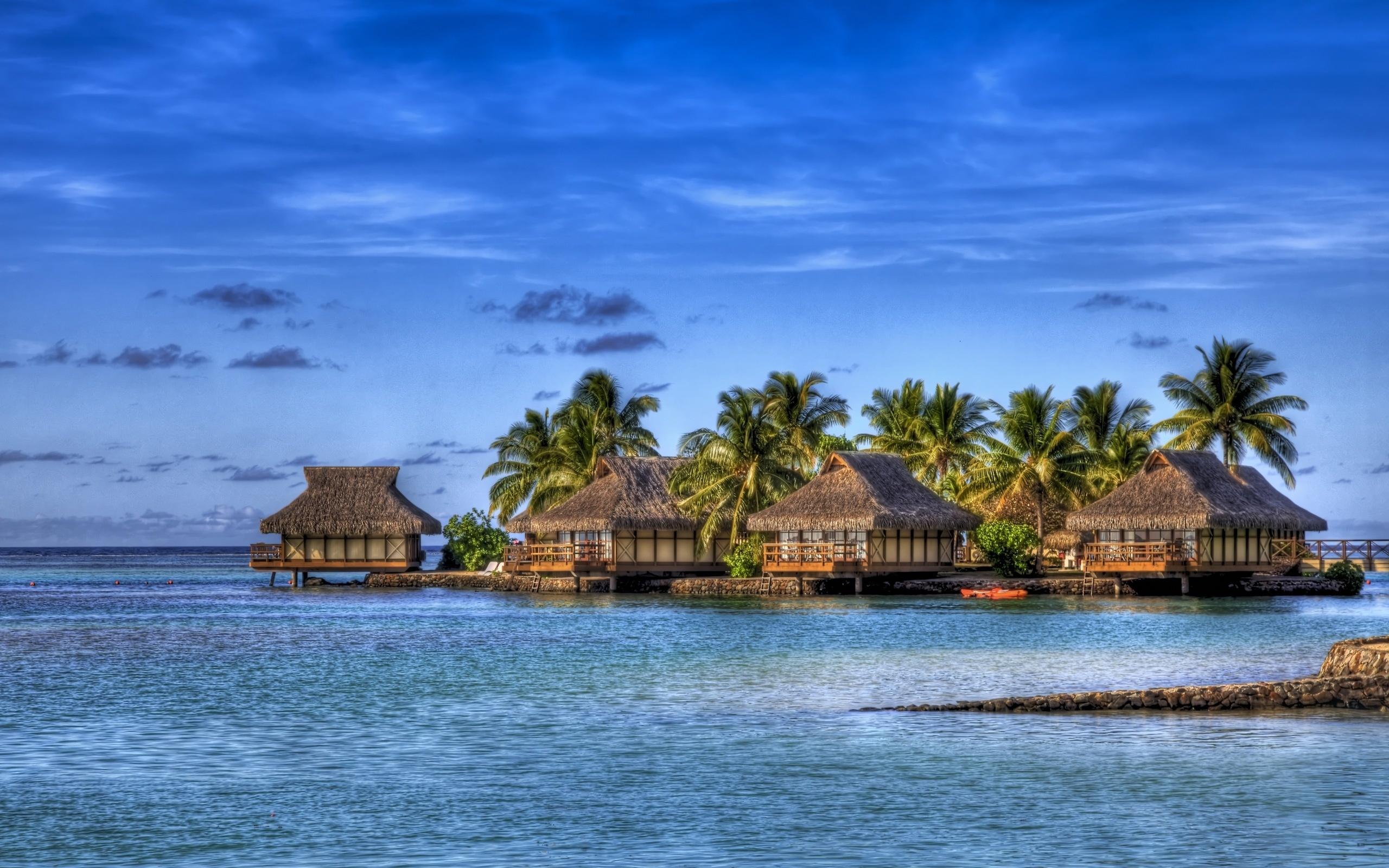 马尔代夫高清海岛风景桌面电脑壁纸