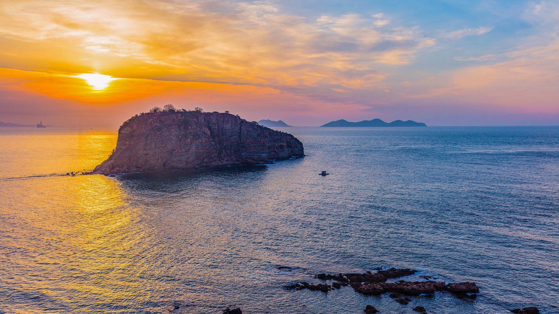 大连棒棰岛风景摄影高清桌面壁纸