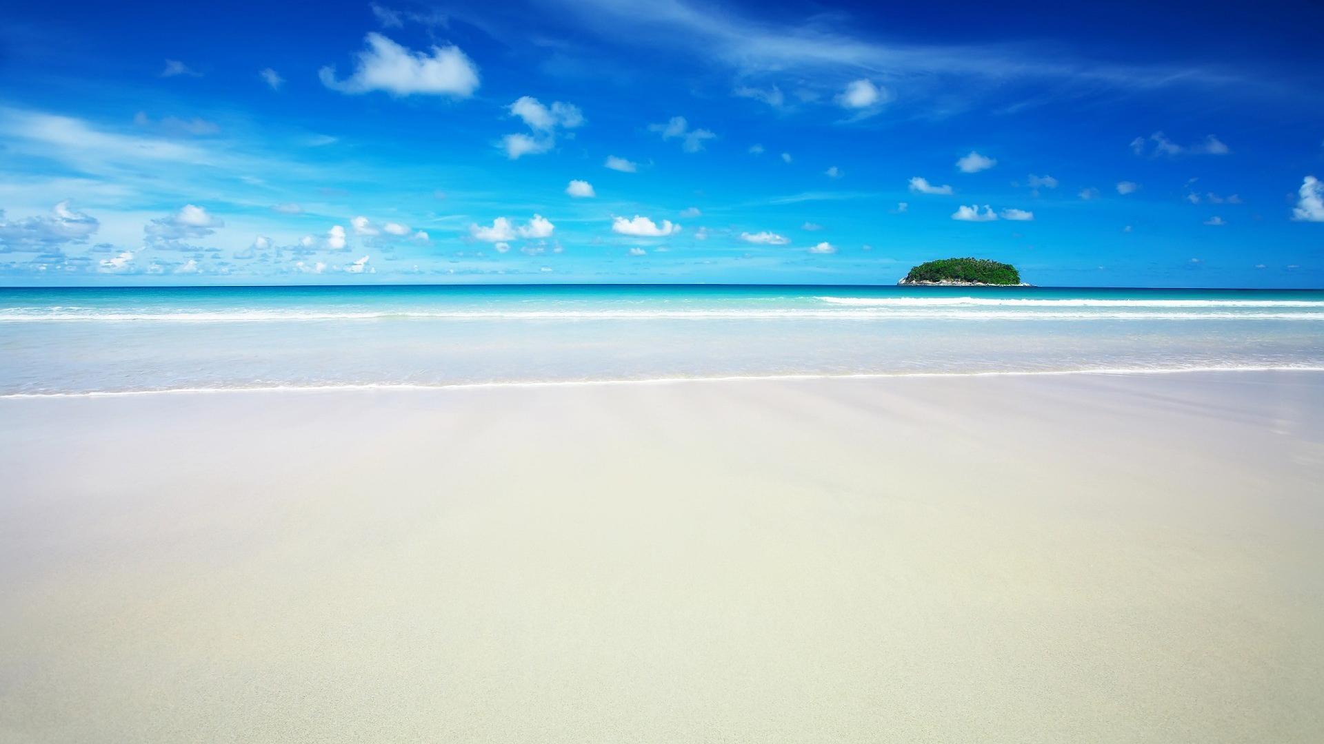 風景怡人的海灘高清寬屏桌面壁紙
