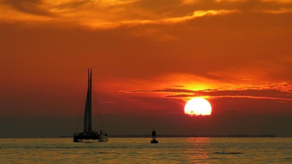 好看的夕阳日落唯美风景图片桌面壁纸高清