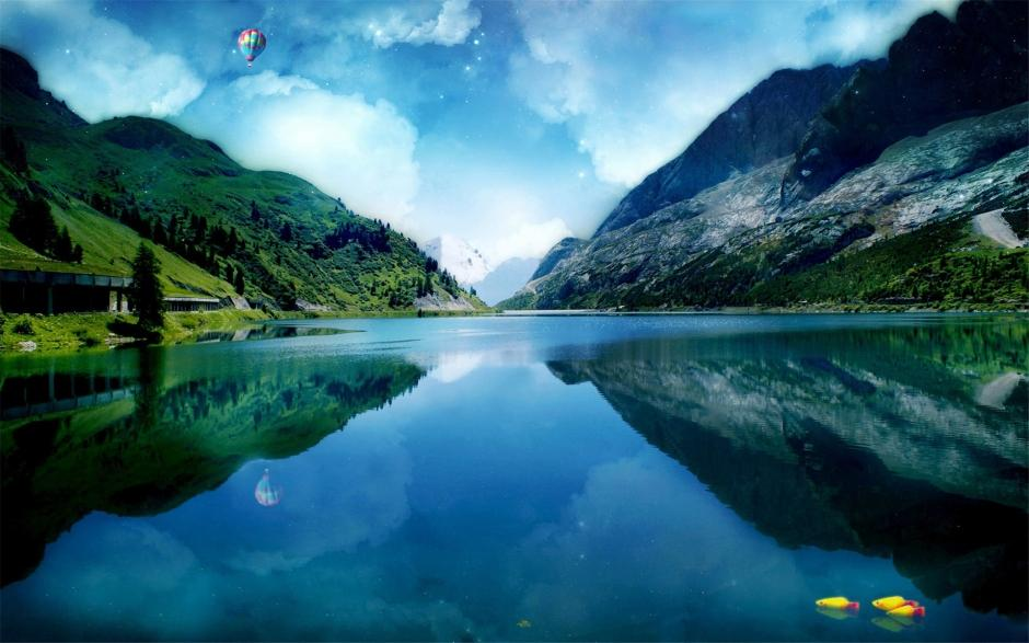 神奇的大自然山水風景高清桌面壁紙